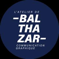 Logo de L'atelier de Balthazar, communication graphique